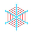 web icon network connections with points and line vector image vector image