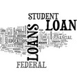 which student loan is right for you text word vector image vector image