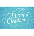 White lettering Merry Christmas for greeting card vector image vector image