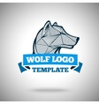 wolf logo template for sport teams vector image vector image
