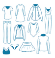 Women s clothes vector image vector image