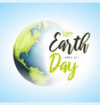 world earth day background vector image