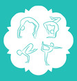 yoga and pilates poses silhouettes vector image vector image