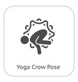 yoga crow pose icon flat design isolated vector image vector image