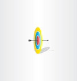arrow and target sign logo vector image