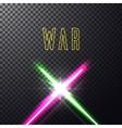 Crossed light swords vector image
