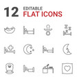 12 sleep icons vector image vector image