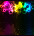 abstract grunge rainbow fog with colored blots vector image