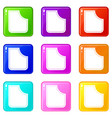 abstract pocket set 9 vector image vector image