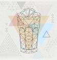 abstract polygonal tirangle cocktail long island vector image