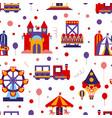 amusement park seamless pattern childish style vector image vector image