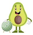 avocado with target on white background vector image vector image