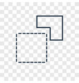 background concept linear icon isolated on vector image