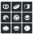 Bakery and fast food icon set vector image