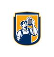Bartender Toast Beer Mug Shield Retro vector image vector image