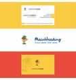 beautiful direction board logo and business card vector image