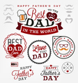 Best Dad Badges and Labels in Vintage Style vector image vector image