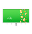 billboard for happy easter holidays calligraphic vector image vector image