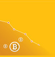 bitcoin market crash graph on orange vector image vector image