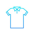 blue t-shirt line icon tshirt outline vector image