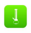 bong for smoking marijuana icon digital green vector image vector image