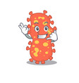cartoon bacteroides with call me funny gesture vector image vector image