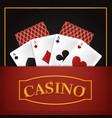 casino leisure game vector image