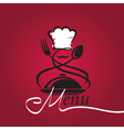 chef hat logo vector image vector image