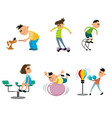 children on the playground vector image