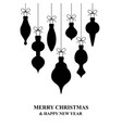 christmas card with hanging decorations vector image vector image