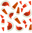 colorful of watermelon slices vector image