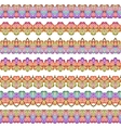 Colorful Seamless Borders lines set Ethnic vector image vector image
