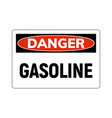 danger fuel gasoline flammable gas icon gasoline vector image vector image
