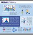 deadline inscription infographic vector image
