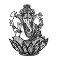 Decorative Ganesha vector image