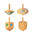 dreidel four-sided spinning top played with vector image vector image