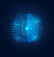 electronic brain vector image
