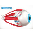 eye medicine 3d icon vector image