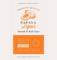 family recipe papaya liquor acohol label abstract vector image vector image