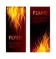 Flame banners set vector image