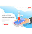flat landing page template of table online vector image