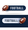 football toggle switch buttons with basketball vector image vector image