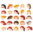 Girls and women faces vector image vector image