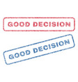 good decision textile stamps vector image vector image