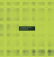green background with halftone dots vector image vector image