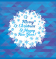greeting card with christmas and new year vector image vector image