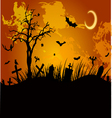 Halloween grunge background vector image