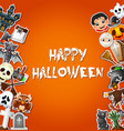 happy halloween card celebrations and character st vector image vector image