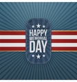 Happy Memorial Day patriotic Badge and Ribbon vector image