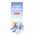 hoppy easter vertical banner vector image vector image